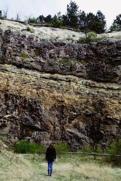 15 millió éves szórt vulkáni törmelékes és lávakőzetek plusz sekélytengeri mészkő rétegek. Locality: Hungary in Sámsonháza