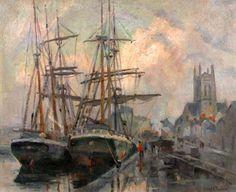 Robert Antoine Pinchon, Le port de Fécamp, oil on canvas, 60 x 73 cm.jpg
