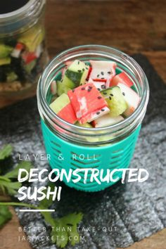 Deconstructed Sushi in a Mason Jar
