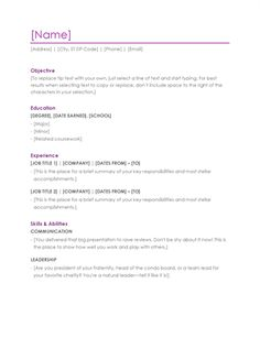 Sample Resumes In Word Pinzelaja Battles On Templates  Pinterest  Modern Resume