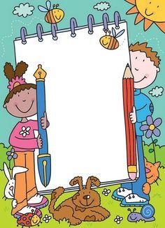 A dolgok professzor Raquel november 2012 Borders For Paper, Borders And Frames, School Frame, Art School, School Border, Cute Borders, Frame Clipart, Binder Covers, Writing Paper