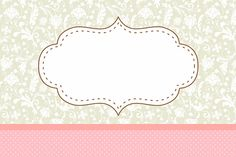 marco rosa y gris Floral Vintage - Free Printable Cards, Printable Labels, Printables, Molduras Vintage, Label Image, Diy And Crafts, Paper Crafts, Floral Vintage, Gris Rose