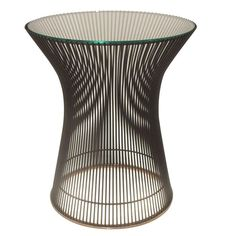 Steel and Glass Occasional Table by Warren Platner for Knoll