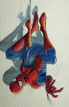 Spiderman drawing, spiderman art, amazing spiderman, marvel avengers, m Amazing Spiderman, Art Spiderman, Spiderman Drawing, Spiderman Homecoming Drawing, How To Draw Spiderman, Ms Marvel, Marvel Art, Marvel Dc Comics, Marvel Heroes