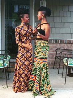 Beautiful African- Inspired dress and skirt African Inspired Fashion, African Print Fashion, Africa Fashion, Fashion Prints, African Attire, African Wear, African Women, African Dress, African Style