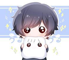 Chibi Cat, Cute Anime Chibi, Cute Anime Pics, Cute Anime Boy, Kawaii Anime Girl, Cute Little Drawings, Cute Drawings, Cute Cartoon Wallpapers, Animes Wallpapers