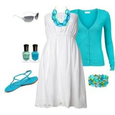 Ocean Blue Outfit