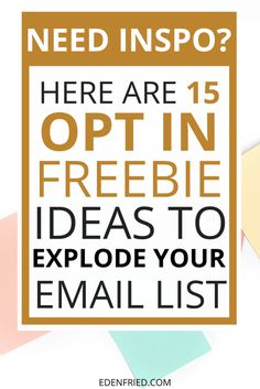 15 Opt In Freebie Ideas to EXPLODE your Email List. All of these are great ideas for indie beauty brands. There aren't many brands out there providing this level of info for their customers and so it's a really great way to stand out and get noticed!