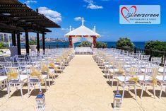 Sunset Beach Club Wedding with Lemon Bows Sunset Beach Club, Sunset Beach Weddings, Destination Weddings, Video Photography, Wedding Photography, Wedding Blessing, Benalmadena, Ceremony Decorations, Wedding Locations