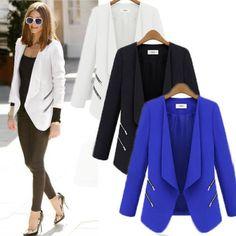Moda Feminina Slim Fit Manga Longa Blazer ternos Casual casaco Jaqueta Casual Ol Novo   Roupas, calçados e acessórios, Roupas femininas, Conjuntos e blazers   eBay!