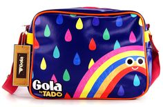 GOLA REDFORD TADO Tasche Bag RAINDROP Navy/Pink/Yellow Messenger