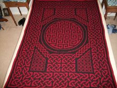 Too funny .. I've come across my own Celtic afghan on Pinterest!