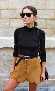 justthedesign:   Button Fronted Skirt Trend: Marta... A Fashion Tumblr full of Street Wear, Models, Trends & the lates
