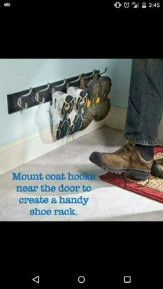 If piles of shoes in your entryway or closets drive you crazy, these smart shoe storage solutions are for you. Find ways to get rid of those shoe piles in your house! Shoe Storage, Garage Storage, Shoe Caddy, Pallet Storage, Shoe Organizer, Garage Organization, Organization For Shoes, Organizing Tips, Home Hacks