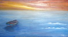 Lost at Sea.  Oil on canvas.  90 x 50cm.  Private Collection: Reinet van Zyl.
