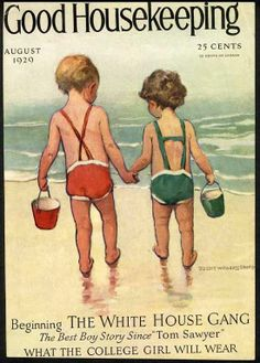 At the Beach by JESSIE WILLCOX SMITH - 1929 Cover Only - Children & Buckets