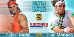 Rafael Nadal vs Juan Monaco Madrid Masters 2014 second round. Visit www.xscores.com/tennis and stay updated with latest livescore results.  #Nadal #JuanMonaco #Tennis