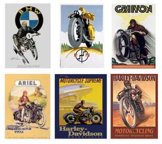 1:25 1:22 G scale model vintage motorcycle posters