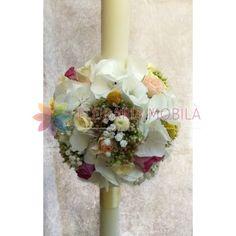lumanari de nunta din hortensie si trandafiri Floral Wreath, Wreaths, Decor, Dekoration, Flower Crown, Decoration, Door Wreaths, Deco Mesh Wreaths, Garlands