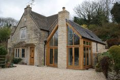 oak and glass extension to house in cotswolds Cottage Extension, House Extension Design, Glass Extension, House Design, Extension Ideas, Garden Room Extensions, House Extensions, Style At Home, Orangerie Extension