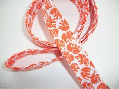 BUY TWO OR MORE FABRIC LANYARDS AND GET FREE SHIPPING US ONLY  Fabric Lanyard / ID Holder with key ring  Orange by Laa766 on Etsy, $7.50