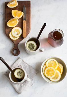 Yummy Supper: fresh ginger tea.