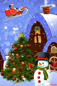 Merry Christmas Animation, Hello Kitty Christmas, Merry Christmas Happy Holidays, 3d Christmas, Christmas Scenes, Christmas Quotes, Christmas Pictures, Christmas And New Year, Christmas Ornaments