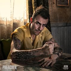 Q&A: Joseph Gilgun on Cassidy third-wheeling it in #Preacher Season 2. amc.tv/QAJosephGilgun