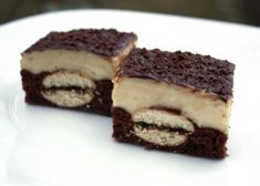 Orechový zákusok s piškótami Breakfast Snacks, Nutella, Tiramisu, Food And Drink, Sweets, Cooking, Ethnic Recipes, Desserts, Hampers
