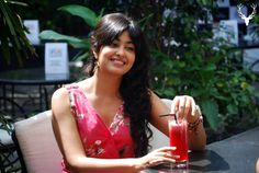 @Snigdha Manchanda Manchanda enjoys a mocktail during her shoot for the Colour lab Lookbook