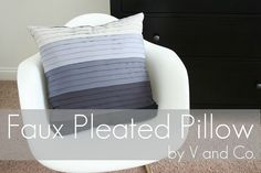 faux pleated pillow. endless looks with a jelly roll of  fabric