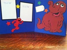 Snuffy and Elmo from Sesame Street Pre Made by aSavvyScrapbooker, $12.00