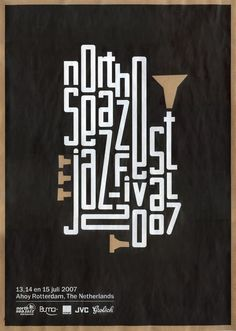 Poster design inspiration: North Sea Jazz Festival by Max Elbling