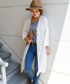 【セール】ジャガードレースロング羽織(カーディガン)|SHIPS for women(シップスフォーウィメン)のファッション通販 - ZOZOTOWN