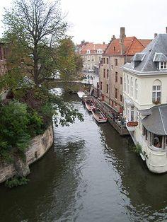 Brugge - View toward the 'Vissemarkt' (Fish market)