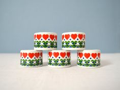 Vintage FunnyLeuchter Hearts Mini Candle Holder by MidModMomStore, $20.00