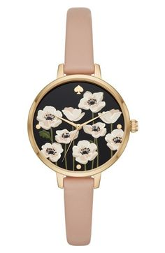 KATE SPADE METRO POPPY WATCH & EARRING SET, 34MM. #katespade #