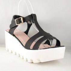 Poze Sandale Negre Olga Raluca 7 cm Wedges, Shoes, Fashion, Sandals, Moda, Zapatos, Shoes Outlet, Fashion Styles, Shoe