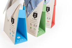 """This project was done as a team for the IOPP 48 hour repack challenge. Six of us worked over one weekend to create a men's dress shirt packaging that would eliminate excess packaging waste, present dress shirts in a new """"stand up"""" way, turn into a hanger,…"""