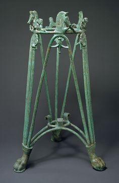Bronze rod tripod stand, early 6th century b.c. Greek. Bronze .