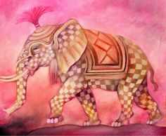 Szigeti Edit  Pink elefant 50x40cm.jpg (1100×906)