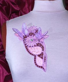 Advanced Embroidery Designs. Butterflies on Flower Cutwork Lace machine embroidery design (3D butterflies are optional)