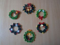 2012 Christmas decorations - my own original designs - Facebook.com/Zen Quilling