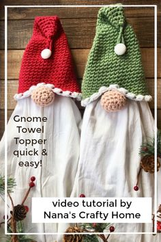 How to crochet Santa Gnome Towel Topper Video Tutorial Free Pattern gift ideas quick How to crochet Santa Gnome Towel Topper Video Tutorial Free Pattern Christmas Craft Show, Crochet Christmas Decorations, Christmas Crochet Patterns, Holiday Crochet, Christmas Knitting, Christmas Nails, Christmas Holidays, Christmas Gifts, Xmas