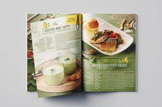 #magazine for #Unimarkt by www.diejungenwilden.at Corporate Design, Coconut Water, Magazine, Food, Boys, Magazines, Meals, Brand Design, Yemek