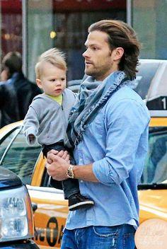 Jared Padalecki  and  son Thomas in NJ candid.    Jared Padalecki   actor TV Show Supernatural   2013