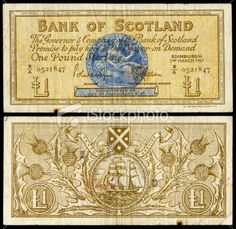 Bank note-Scotland The Color Of Money, Scottish People, Star Wars Crafts, Glasgow Scotland, History Memes, World Coins, People Of The World, Vintage Photos, Legal Tender