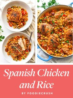 Life Hacks : 17 Spanish-Inspired Recipes to Try at Home Spanish Chicken and Rice by Spanish-Inspired Recipes to Try at Home Dim Sum, The Menu, Dinner Party Recipes, Healthy Dinner Recipes, Healthy Lunches, Healthy Eating, Brunch, Chefs, Paella