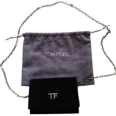 Pre-owned Tom Ford Tf Handbag Shoulder Bag (485 CHF) ❤ liked on Polyvore featuring bags, handbags, shoulder bags, black, chain purse, tom ford, preowned handbags, pre owned handbags and black shoulder bag