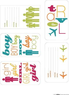 Free luggage tags printables